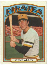 1972 Topps Baseball Cards      286     Gene Alley